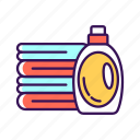 cleaning, detergent, housekeeping, towels icon