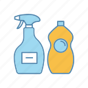 cleaning, cleaning product, cleanser, detergent, dishwash liquid, kitchen icon