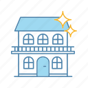building, cleaning, cottage, home, house, shine, sparkle icon
