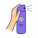 aerosol, air, air freshener, bathroom, freshener, spray, toilet icon