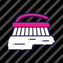 carpet, cleaning, floor, scrub brush, scrubber, scrubbing, wash icon