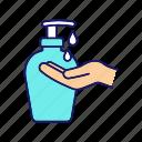 bottle, cream, gel, hand, liquid, lotion, soap icon