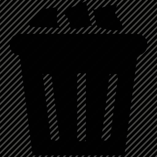 dust bin, rubbish bin, trash bin, waste basket, waste container icon