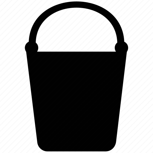 bucket, ice bucket, pail, water bucket, water container icon