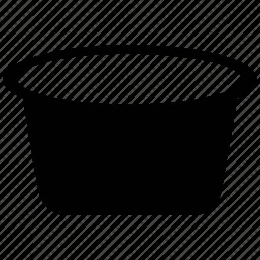 tub, washing tub, water trough, water tub icon