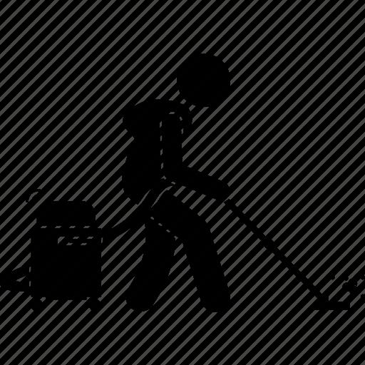 man, person, vacuum cleaner icon