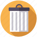 bin, chores, equipment, garbage, household, trash can, utensil icon