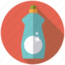 bottle, chores, cleaning, dishwashing, equipment, household, utensil icon