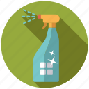 chores, equipment, household, spray bottle, utensil, window cleaning icon