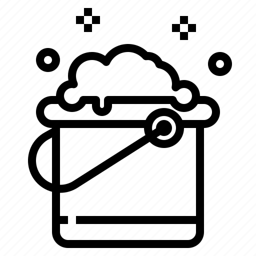 bucket, clean, cleaning, wash, washing icon