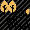 cut, deforestation, logging, stump, tree icon