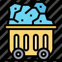 coal, fuel, mineral, mining, trolley
