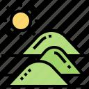 desert, drought, dune, mountain, sand icon