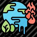 crisis, global, melting, planet, warming icon
