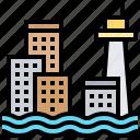 coastline, flood, level, rise, sea