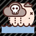 rain, polution, weather, natural, disaster, ecology icon