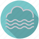 climate, cloud, fog, mist, overcast, smog, weather icon