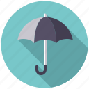 climate, rain, rainy, umbrella, weather icon