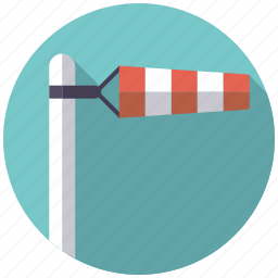 breeze, climate, storm, weather, windsock, windy icon