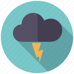 climate, cloud, lightning, thunderstorm, weather icon