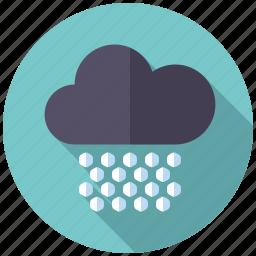 blizzard, climate, cloud, hail, hailstorm, weather icon
