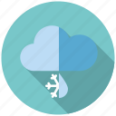 climate, winter, snow, rain, sleet, weather, cloud icon