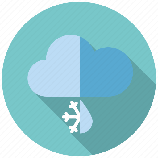 climate, cloud, rain, sleet, snow, weather, winter icon