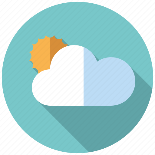climate, cloud, cloudy, sun, sunny, sunshine, weather icon