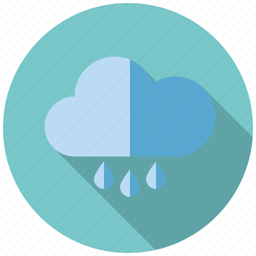 climate, cloud, rain, rainy, shower, weather icon