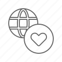 charity, global, heart icon