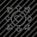 charity, donation, heart icon