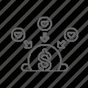 box, donation, fundraising, money icon