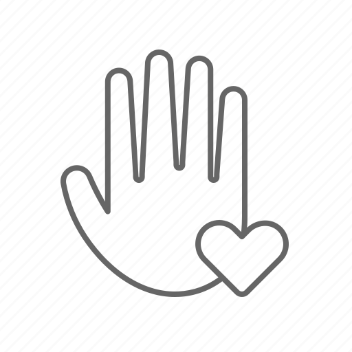 give, hand, heart icon