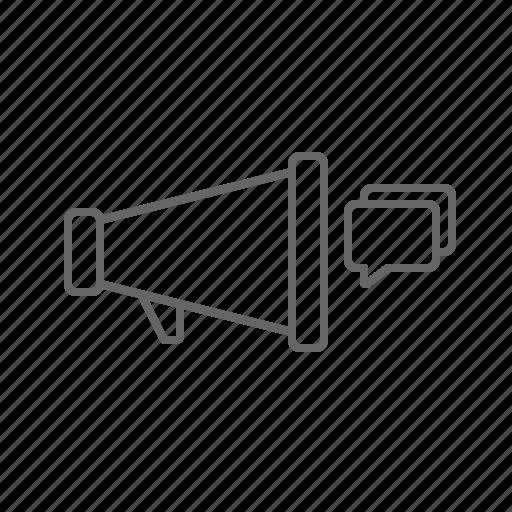 marketing, megaphone, message icon