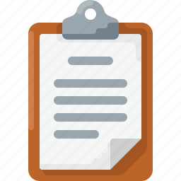 business, clipboard, doc, document, note, text icon