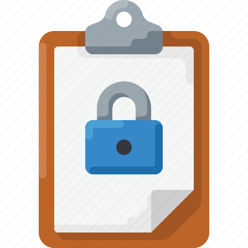 clipboard, lock, pass, privet, protect, secure icon