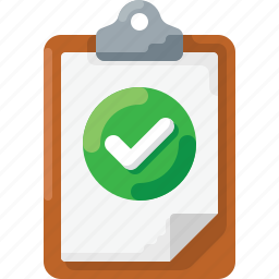 check, checklist, clipboard, done, success icon