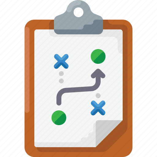 business, clipboard, coach, coaching, plan, strategy icon