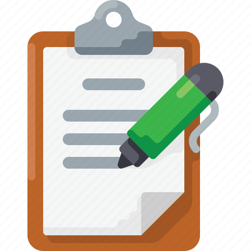 clipboard, doc, document, edit, pen, text, write icon