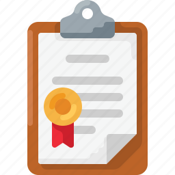 award, clipboard, doc, document, medal, prize, ribbon icon