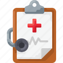 clipboard, cross, doc, doctor, heartbeat, medicine, pulse icon