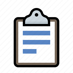 clipboard, document icon