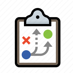 clipboard, coaching, plan, playbook, strategy icon