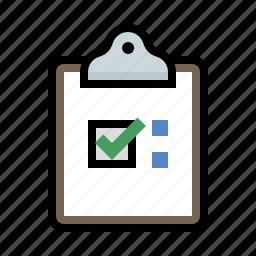 clipboard, form, poll, survey icon