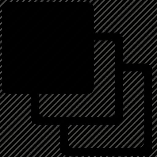 clone, dublicate, object, square icon