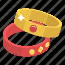 armlets, bangles, bracelets, jewelry, ornaments icon