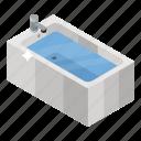 bath, bathtub, jacuzzi tub, shower, shower tub icon