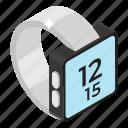 digital watch, hand watch, timepiece, timer, wristwatch icon