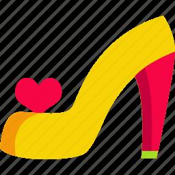fashion, female, shoes, size, wear, woman, woman shoes icon