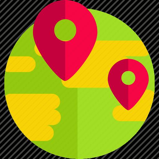 earth, global, international, map, pin, travel, world icon